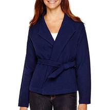 Liz Claiborne Belted Jacket Size XLT Msrp $80.00 New American Navy  - $29.99