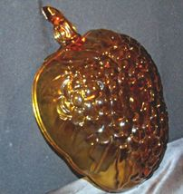 Amber Glass Grape Cluster Shape Large Centerpiece Bowl AA19-CD0045 Vintage image 3