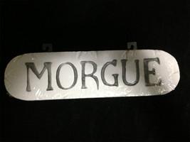 CSI Dexter Horror Sign-MORGUE-Mad Scientist Door Wall Halloween Prop Dec... - $6.83