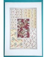 BAROQUE Floral Ornaments 18th C for Princess Lamballe - 1877 COLOR Litho... - $24.48