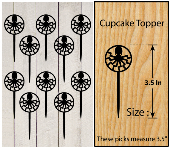 Ca345 Decorations cupcake toppers game of thrones silhouette Package : 10 pcs