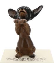 Hagen-Renaker Miniature Ceramic Dog Figurine Chihuahua Pedigree Pup Black image 2