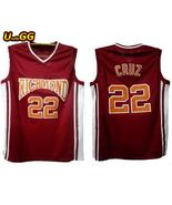 22 timo cruz richmond oilers home basketball jersey name and number stitched red color thumbtall