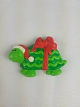 Hallmark Christmas Refrigerator Magnet Green Turtle with Red Bow - $9.65