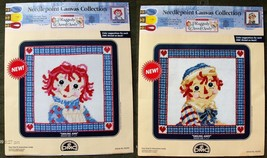 Smiling Raggedy Ann & Andy Portraits DMC Needlepoint Canvas Collection 7... - $17.99