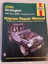 Jeep Wrangler 1987 Thru 2008 Haynes Repair Manual 50030 (2009) Gasoline ... - $13.55