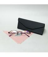 Purple Reading Glasses +1.75 Spring Temples w/ Metallic Black Foldable C... - $19.99