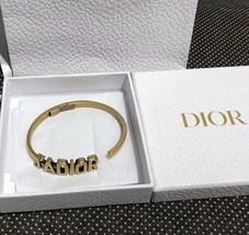 AUTH Christian Dior 2019 J'ADIOR AGED GOLD BRACELET CUFF BANGLE image 7