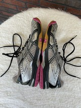 Asics Gel Rocket Shoe Size 9 Volleyball Sneakers Silver Pink Athletic Tr... - $19.60