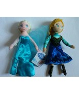 "Disney Frozen Bean Plush Elsa & Anna  9"" Stuffed Cloth Dolls Toy - $18.56"
