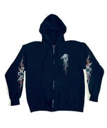 Harley Davidson Men's Medium Full Zip Hoodie Sweatshirt Black Graphic Po... - $37.39