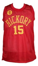 Jimmy Chitwood Hickory Hoosiers Movie Basketball Jersey New Sewn Red Any Size image 3