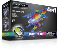 Laser Pegs 4-in-1 Helicopter Building Set - $41.22