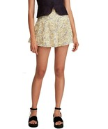 FREE PEOPLE 'Shallow Waters' Cotton Printed High-Waist Eyelet Floral Sho... - $19.20