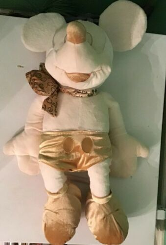 "Disney Store 24"" Mickey Mouse Cream Gold Plush Collectible"