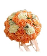 Kylin Express Beautiful Bridal Wedding Party Artificial Flowers Bouquet,... - $29.86