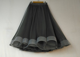2020 High Waisted Ruffle Tulle Tutu Skirt Layered Tulle Midi Skirt Outfit T1880 image 8