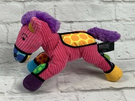 BRITTO POPPLUSH Pink Corduroy POP ART Frida the HORSE Plush Stuffed Anim... - $10.99