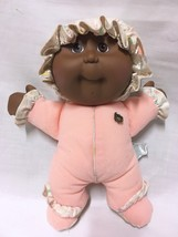 Vtg 1993 My First Cabbage Patch Kid Babyland Rattle Plush Doll African A... - $10.88