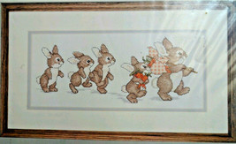 Simplicity 05589 Bunny Parade Counted Cross Stitch 14x6 Package New but ... - $27.91