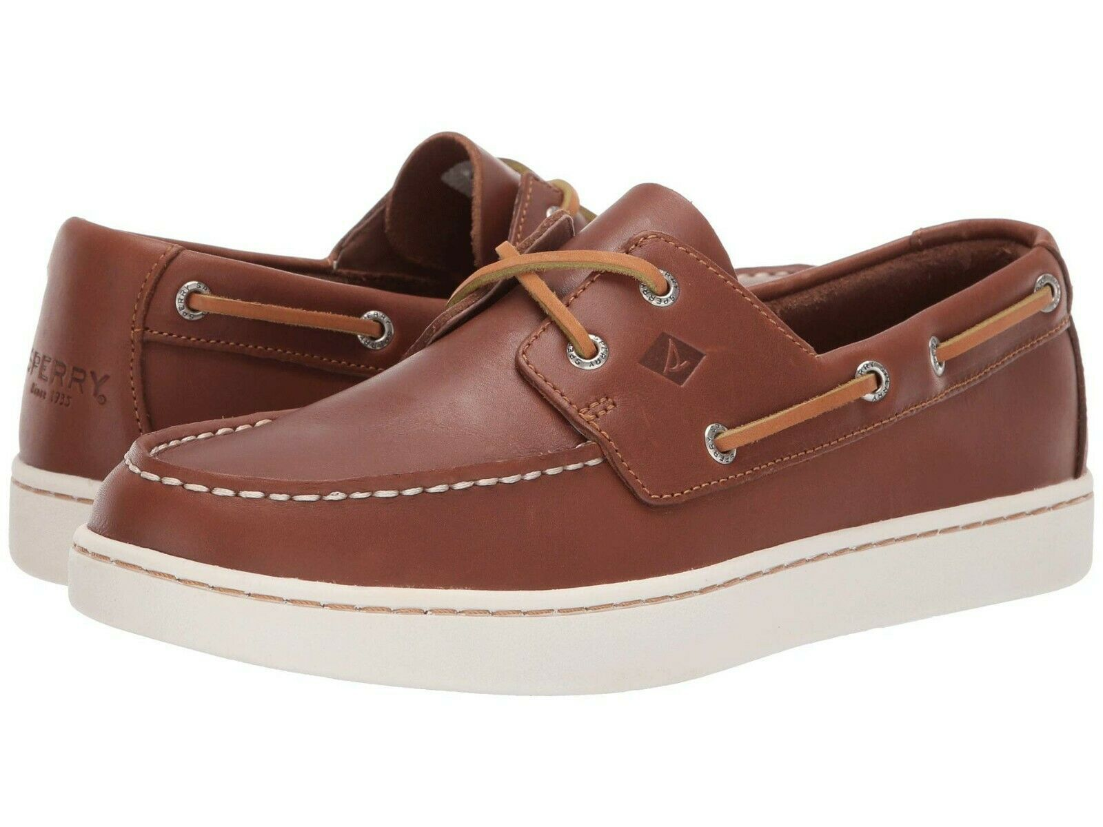 Men's Sperry Top-Sider Cup 2 Eye Leather Oxford, STS18791 Multiple Sizes Tan