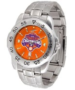 Clemson Tigers National Champions Mens Steel Sport AnoChrome Watch and D... - $66.50