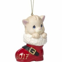 2017 Cat Ornament Precious Moments Have Pawsitively Soleful Christmas Bo... - $25.73