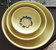 Three Bowls Brock Ware SOUTH PACIFIC Mango MID CENTURY California Potter... - $45.00