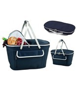 Picnic Basket Insulated Outdoor Collapsible Folding Camping Cooler With ... - $78.61 CAD