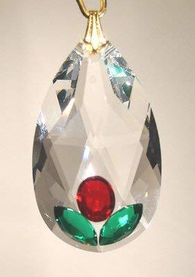 J'Leen Enhanced 38mm Clear Crystal Oval Drop Prism