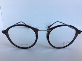 New Ray-Ban RB 7073 5740 LightRay 47mm Rx Round Brown Eyeglasses Frames - $69.99