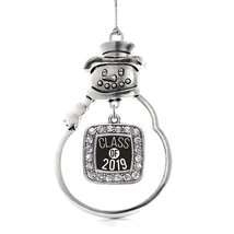 Inspired Silver Class of 2019 Classic Snowman Holiday Christmas Tree Ornament Wi - $14.69
