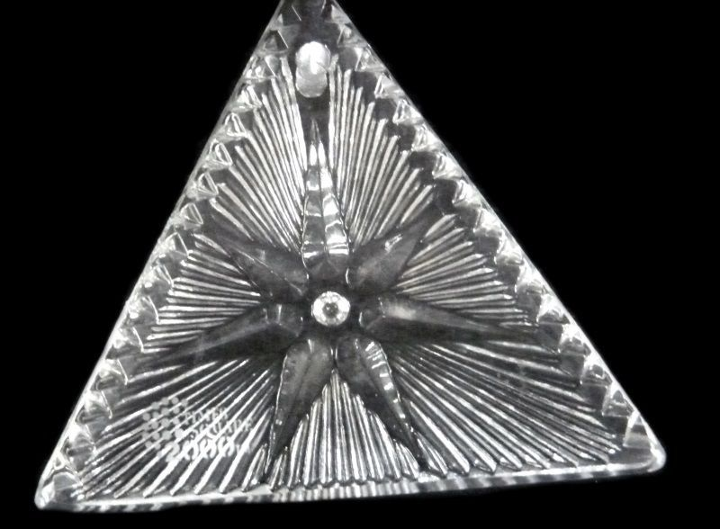 Waterford Crystal Ornament 2000 Times Square Triangle Star of Hope Collectible image 7