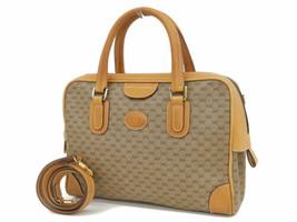 7e0c82275017ce Auth GUCCI Shoulder Hand Bag Beige OLD Gucci Vintage Micro GG Logo Zipper  G374 - $267.30
