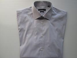 John Varvatos 'Star' USA Spread Pin-Striped Textures LS Men Dress Shirt ... - $33.91
