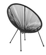 Valencia Oval Comfort Series Take Ten Black Rattan Lounge Chair - $125.41