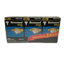 Phillips Recessed Indoor Light Bulbs (65w, 3 3/4 diameter, 3-bulbs) - $19.34