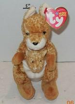 """Ty WILLOUGHBY the KANGAROO 6"""" Beanie Baby Plush Stuffed Animals Rare HTF - $10.63"""