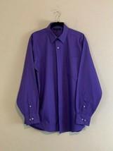 NWOT TOMMY HILFIGER Men's Button Down Purple Dress Shirt Long Sleeve - $58.19