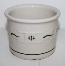 "Longaberger Woven Traditions Green Small Crock 3.5"" Tall x 4.5"" Across EEUC - $14.84"