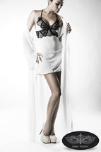 Sexy Lingerie Set White Underwear Coat Negligee G-String Lace Dressing Gown E - $61.10