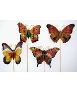 cCloisonne Butterfly picks. Set of 4pc. Decorate your garden!!    4373p - $28.95