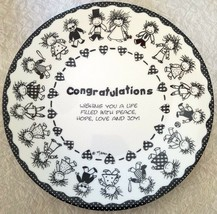 Cake Plate 10.5 in Congratulations Children of the Inner Light Marci Bir... - $44.55