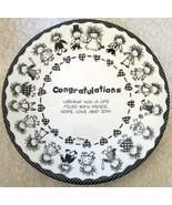 Cake Plate 10.5 in Congratulations Children of the Inner Light Marci Bir... - $44.55