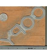 """Vintage Metal & Wood Printing Print Block Ink Stamp, Large """"COPY"""" 5 1/4""""... - $13.99"""
