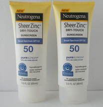 2 Neutrogena Sheer Zinc Dry-Touch Sunscreen SPF 50 Water Resist 80 Min Exp 2019 - $17.33