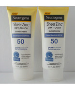 2 Neutrogena Sheer Zinc Dry-Touch Sunscreen SPF 50 Water Resist 80 Min E... - $17.33