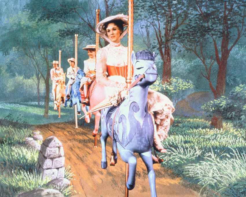 Julie Andrews On Carousel Mary Poppins 16x20 Canvas Giclee - $69.99