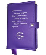 AA Alcoholic Anonymous Deluxe Purple Orchid Double Book Cover - $28.34
