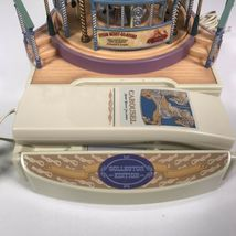 Great American Musical Merry Go Round Carousel Corded Novelty Phone Wind Up image 3